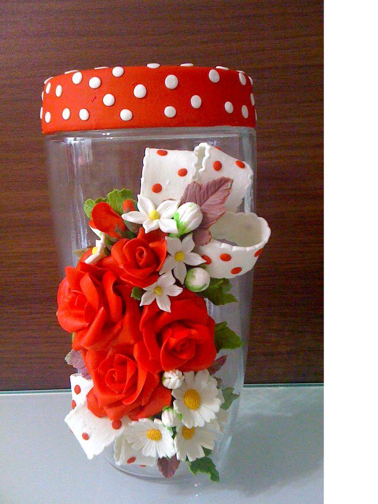 Porta biscoitos para quem adora vermelho :)
