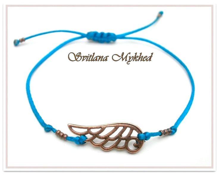 """Bracelet fermeture coulissante """" L`Aile. Steampunk """" Turquoise . Bracelet de l'amitié, de l'amour à offrir ou s'offrir... : Bracelet par perles-et-couronnes"""