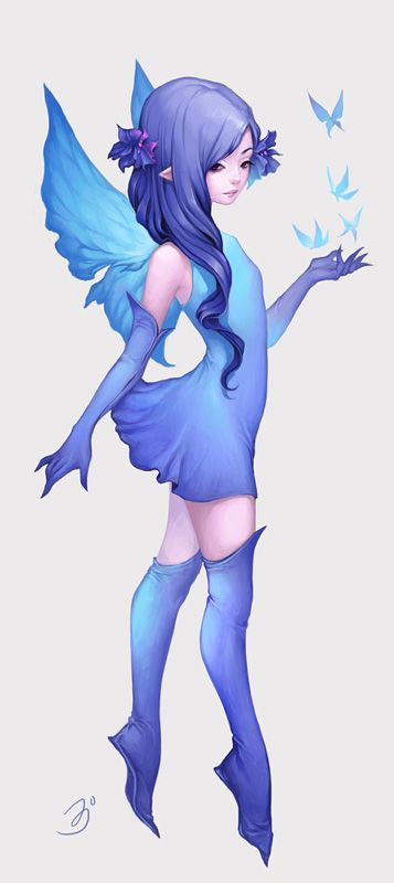 Fairy Blue by maruhana-bachi.deviantart.com on @deviantART