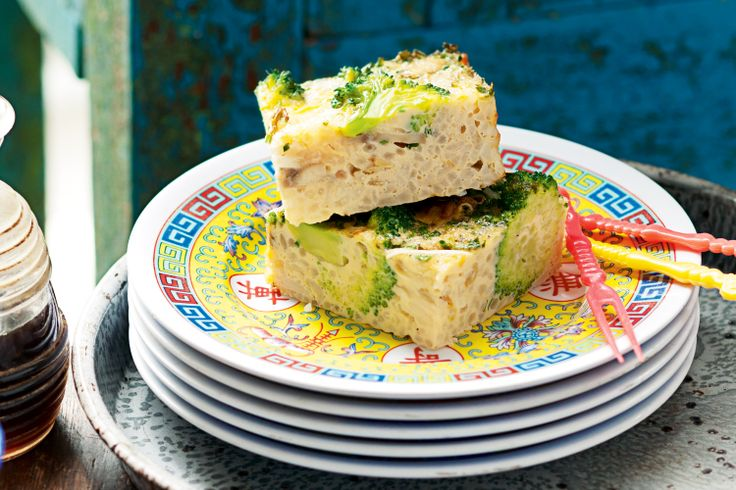We've twisted the Chinese omelette into a frittata made with fragrant rice.