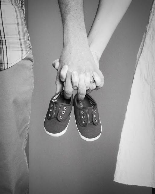 Pregnancy Announcement Picture...would be really cute with big sibling holding the shoes with a big smile & balloon with pink or blue