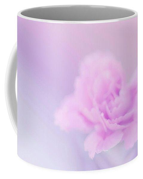 Irina Safonova Coffee Mug featuring the photograph Tenderness Lilac - Pink Carnation Macro, Soft by Irina Safonova#IrinaSafonovaFineArtPhotography #food #Rustic #ArtForHome#CoffeeMug