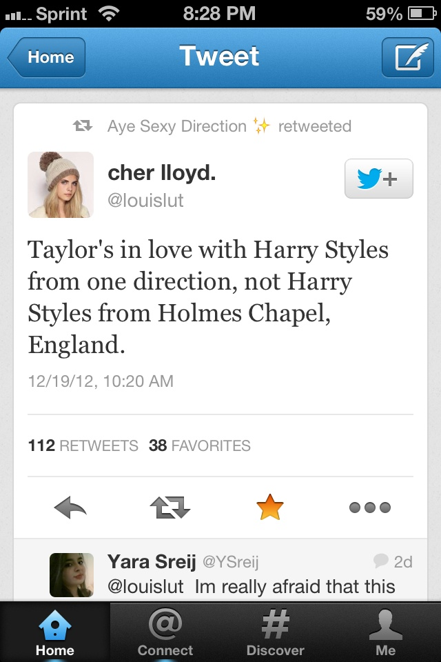 Very insightful....good point. I could see this, ya know.. She really doesn't know the REAL Harry probably