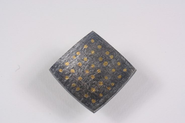Patinated sterling silver ring with pure gold and platinum granules. Contact info@robertofioravanti.com for ordering