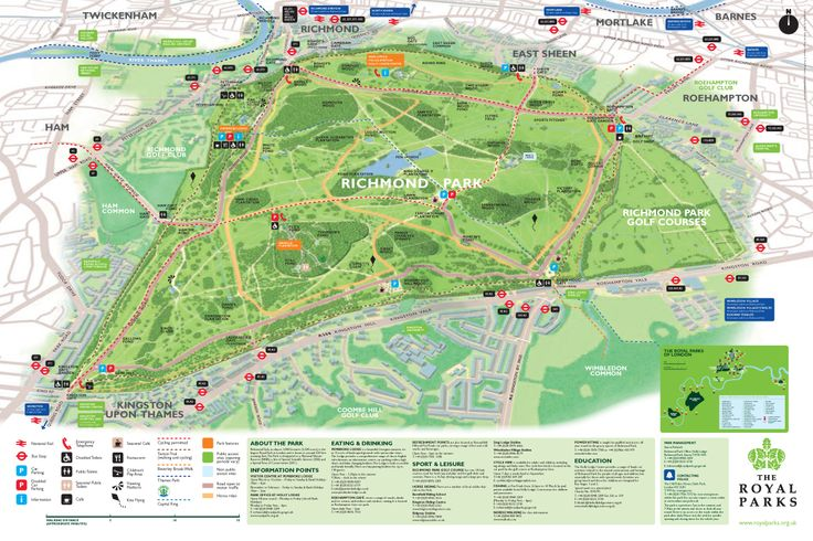 A Map Of Richmond Park A Venue Often Visited By The