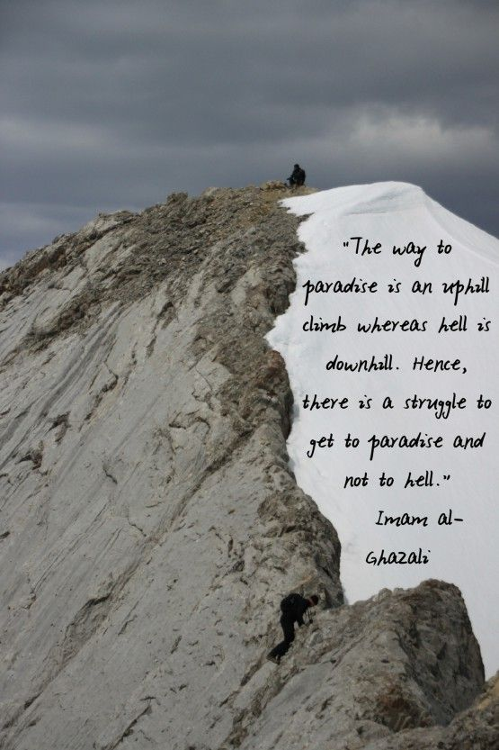 DesertRose,,,The Way to Paradise is Uphill (Abu Hamid al-Ghazali Quote)