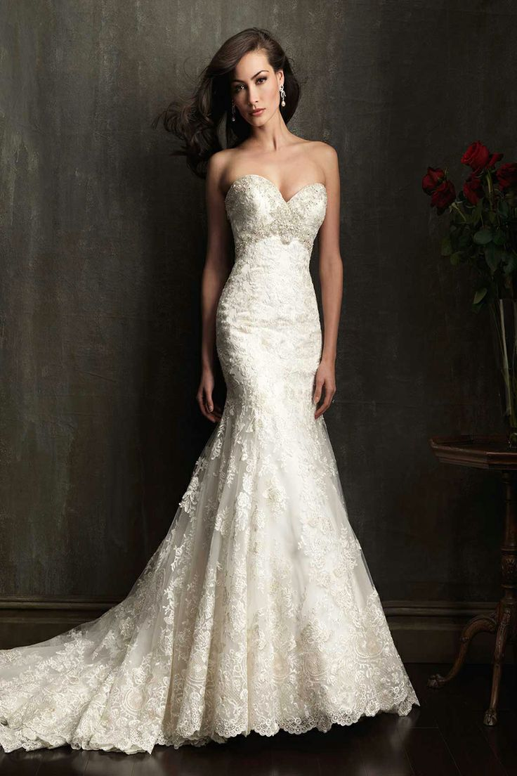Allure Bridals- My favorite style. Fits perfectly to my body,  youthful,classic