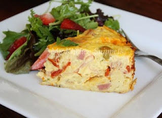 Cheesy Orzo Frittata... now all I need is a round baking pan!