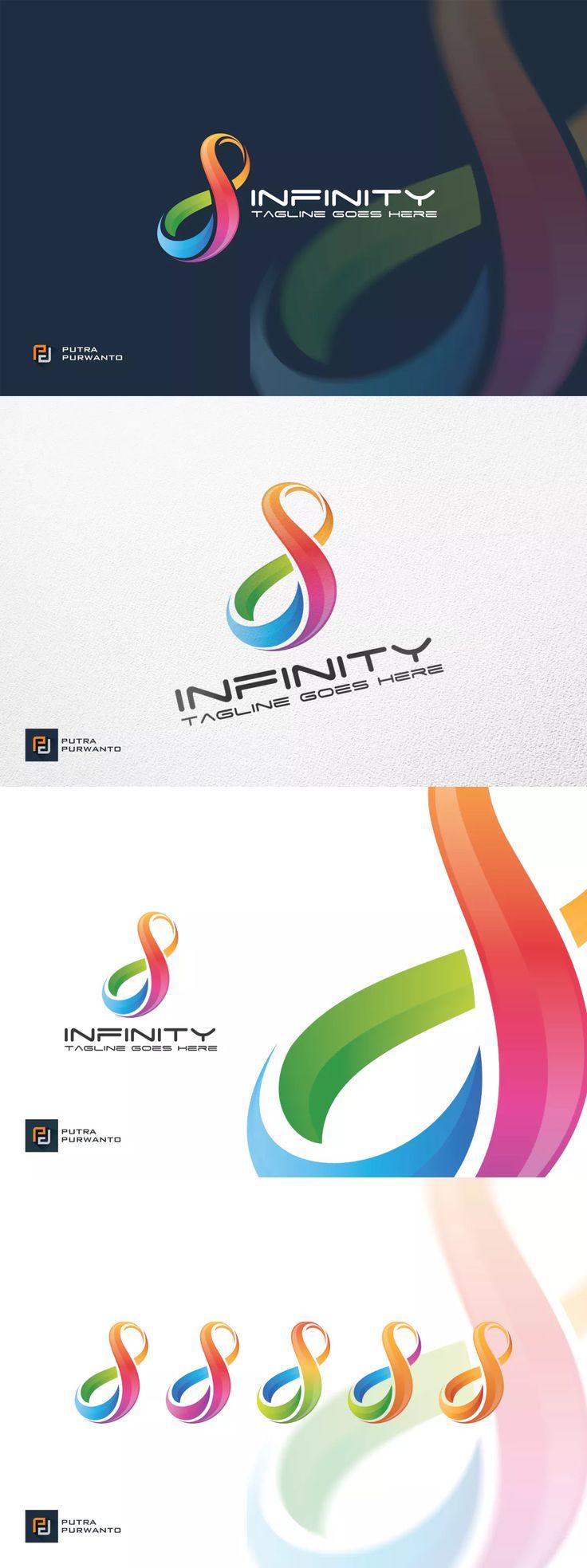 Infinity Logo Template Ai Eps Name Cards Pinterest