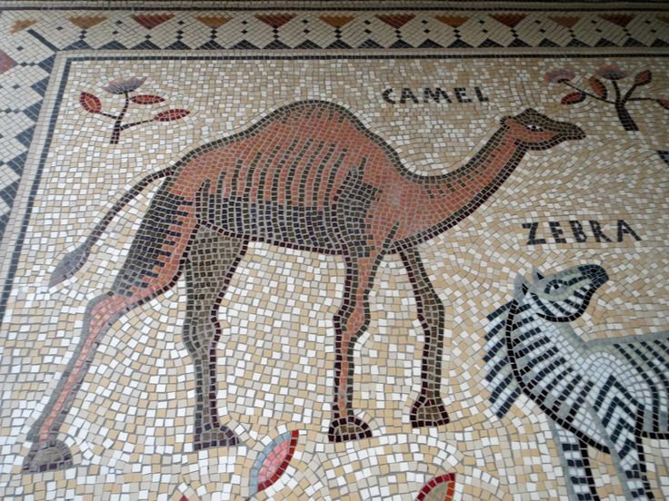 camel mosaic detail of hackney downs mosaic