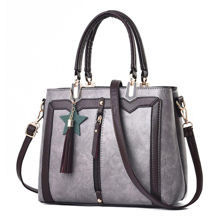 Homeda Patchwork Handbag Tassels&Green Star Woman Shoulder Bag Shopping/Party Portable Ladies Pu Bolsos Bandolera Mujer Q-80. Yesterday's price: US $56.18 (46.03 EUR). Today's price: US $23.60 (19.33 EUR). Discount: 58%.
