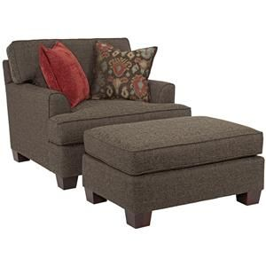 Broyhill Furniture Westport Chair and a Half with Ottoman - 3670-0+5