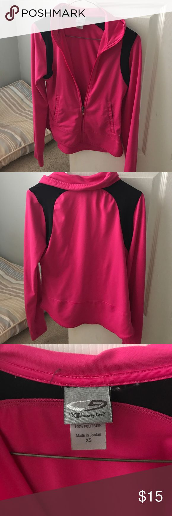 Champion pink zip up jacket Champion zip up pink and black zip up jacket. Champion Jackets & Coats