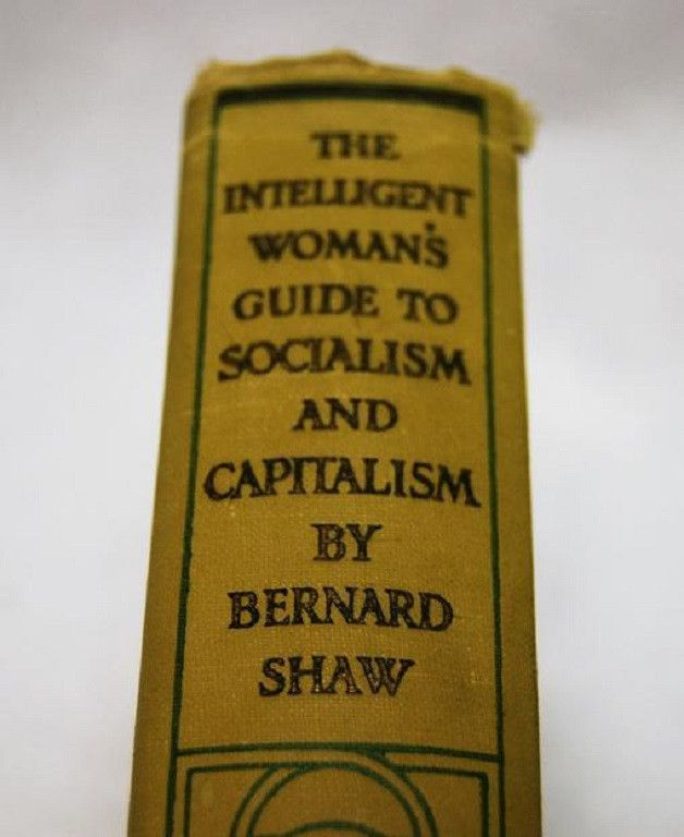 1st Edition The Intelligent Woman's Guide to Socialism and Capitalism by Bernard Shaw | c. 1928