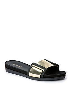 Calvin Klein Collection Suede Slide Sandals w/ Tags outlet purchase zxlGc0a3