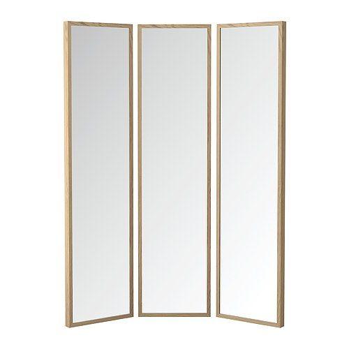 STAVE Lustro - dąb bejcowany na biało, 130x160 cm - IKEA