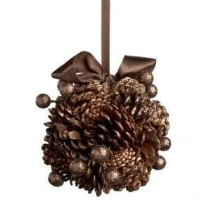 Glitter Pinecone Ball - diy???