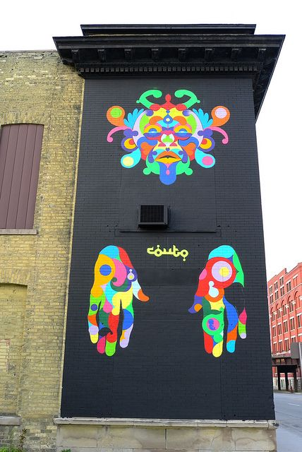 Milwaukee street art mural, by the Couto Brothers
