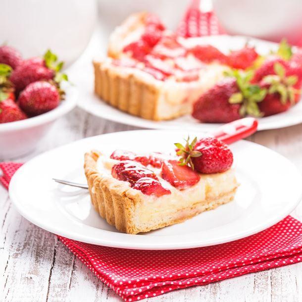 Tarte-flan pâtissier aux fraises