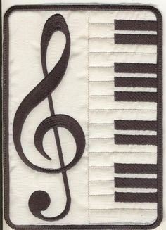5x7 Musical Mug Rugs - Elsas Designs   OregonPatchWorks