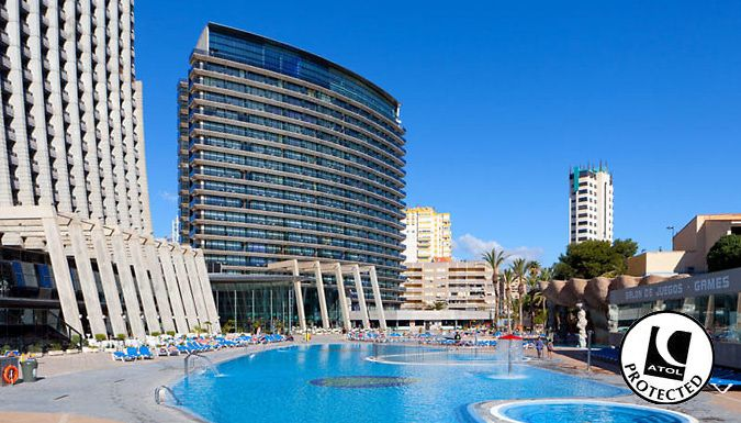 UK Holidays: Benidorm, Spain: 3-7 Night Half Board 4* Hotel Stay With Flights - Up to 31% Off for just: £149.00 Make a break for balmy Benidorm with a 3-7 night stay in a 4* spa hotel      Stay in an en suite double room at the 4* Gran Hotel Bali, the tallest hotel in Europe      Enjoy frontal sea views, air conditioning and even your own balcony      Relax with a trip to the Turkish...