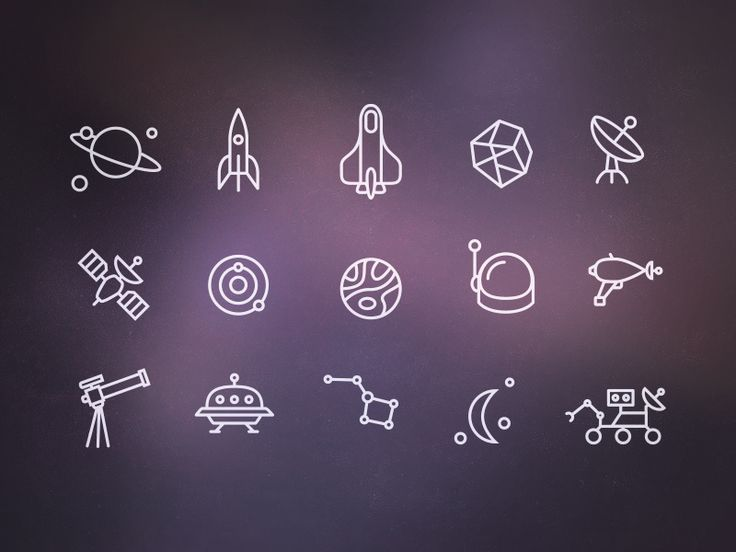 Space #Icons by Jeremiah Shaw, via #dribbble.