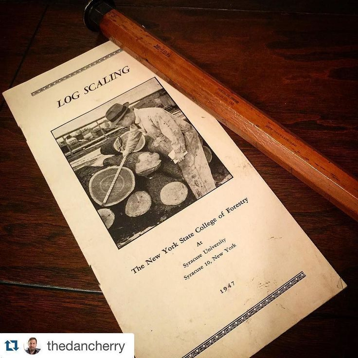 #Repost @thedancherry  I haven't had a #woodlibraryfriday post in a while and came across this booklet the other day while rearranging so I posed it with my Stanley Rule & Level Company No. 48-1/2 log cane. The booklet goes over the basics of log scaling which uses a special rule that is built to estimate the number of board feet that can be extracted from a sawn log of a certain length. There is a great variability in log rules/canes/sticks as there were different ways and assumptions and…