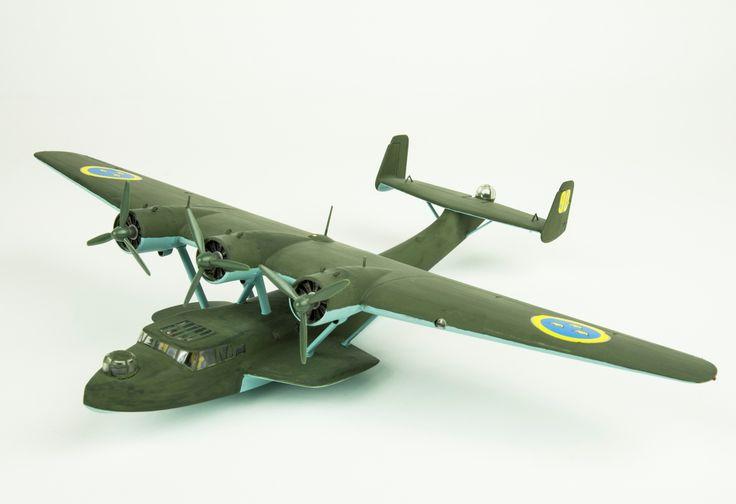 Model aeroplane Tp 24, Dornier Werke Do 24. Skala 1:72   Flygvapenmuseum   CC BY