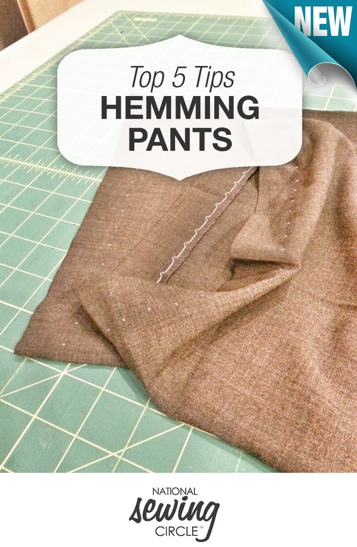 Top 5 tips for hemming pants + blind hem tutorial video