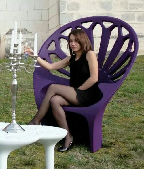 Large Purple Lawn Chair