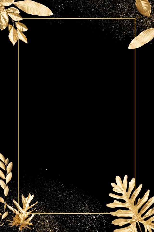 High End Black Gold Gold Leaves Gold And Black Background Black Background Wallpaper Poster Background Design