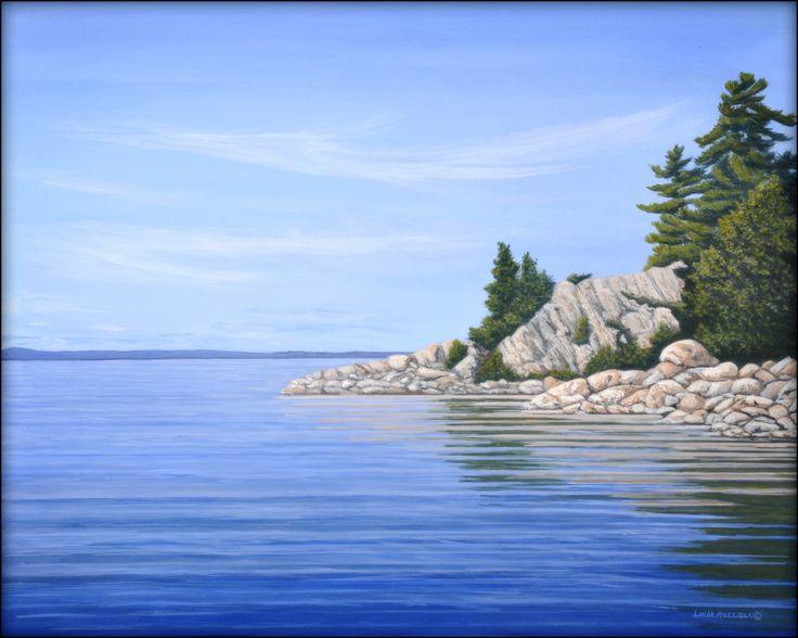 """""""Fraser Bay"""" - Acrylic 16 x 20 www.lindamullola.com"""