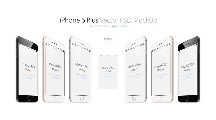 iPhone 6 Plus 3/4 Views Vector PSD MockUp