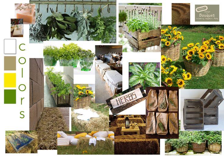 Rustic wedding inspiration. Herbs, burlap and wood. Love it!