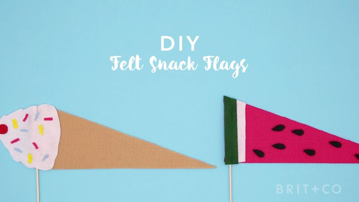 Watch this DIY video tutorial to learn how to make a set of felt snack flags.