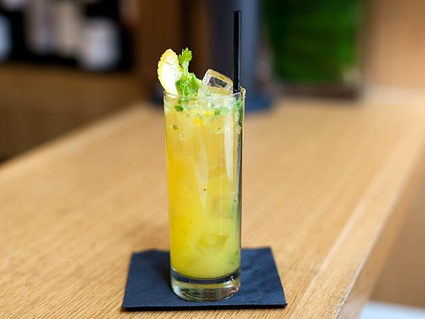 Ninho Pacifico  With orange and cilantro, this drink is fruity, refreshing, tart, and the addition of beer turns it into the perfect transitional drink for fall. Use blood oranges if you can find them—they'll add a lovely dark-orange hue