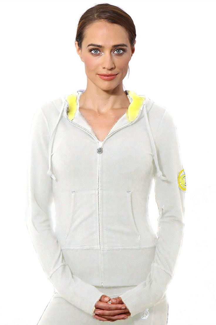 "GREEN APPLE 22"" CROP HOODIE HEATHER OATMEAL (LARGE). BAMBOO. ORGANIC. ECO FRIENDLY."