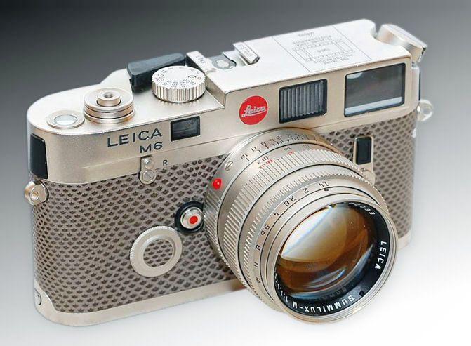 LEICA M6 Platinum plated Finish 150 Jahre Photographie/75 Jahre Leica   -  mir.com.my