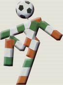 Italia 1990: Ciao (Figura humana estilizada)