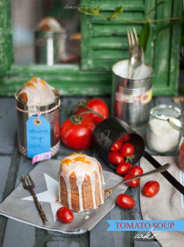 """Tomato soup cake - questa #ricetta al #pomodoro partecipa al contest """"Il pomodoro italiano si veste di gusto"""" di @chiarapassion  realizzato in collaborazione con La Fiammante - #tomato #recipe #food #cake"""