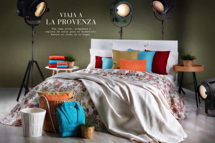 Viaja a la Provenza, una cama joven, acogedora y repleta de color para tu dormitorio. Revive el otoño en tu hogar.