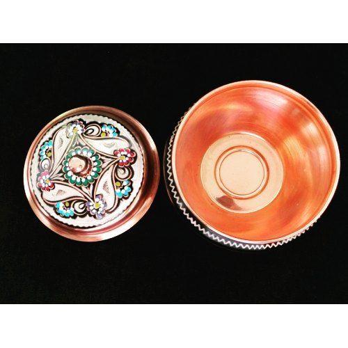 #Enameled #Engraved Candy Dish