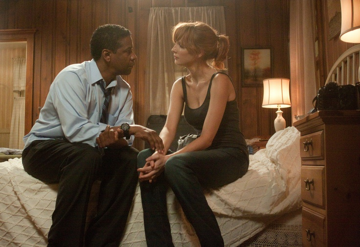 Denzel Washington e Kelly Reilly in Flight