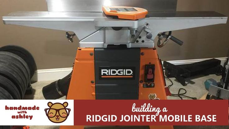 Building a Mobile Base for the Ridgid Jointer - YouTube
