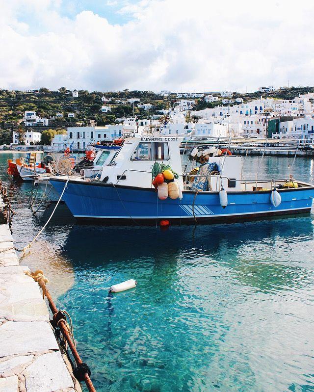 Mykonos port, beautiful Greek island 🇬🇷 click photo for travel blog