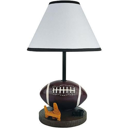 This football accent lamp from ore international is ideal for a childs bedroom the lamp