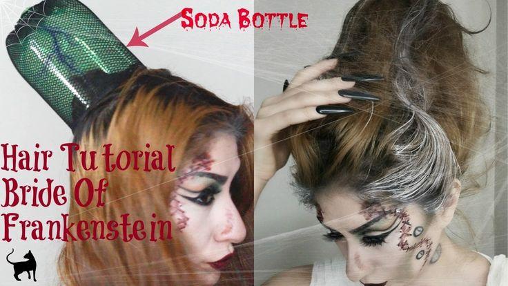 Bride of frankenstein Hair Tutorial | Using a Soda Bottle