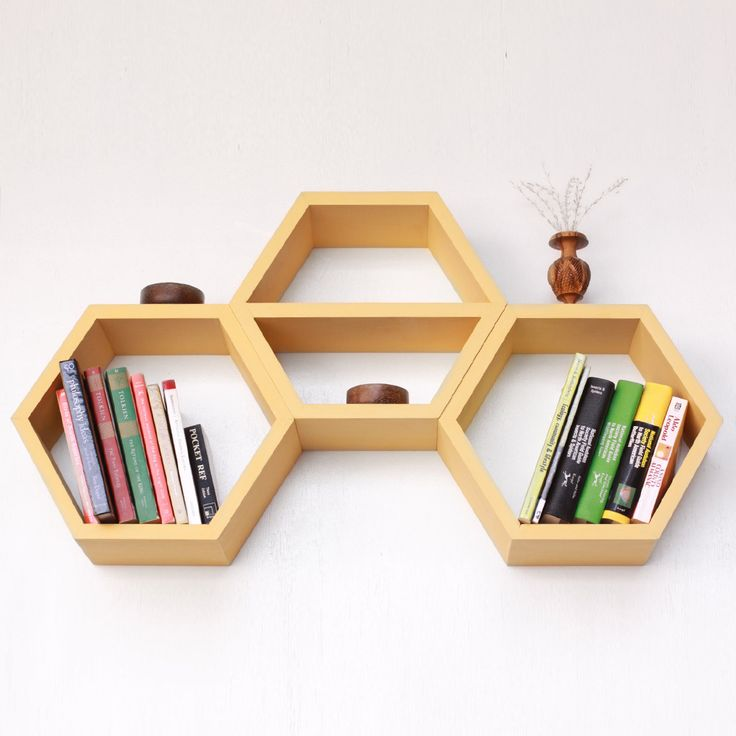 Nesting Hexagon Shelves / Dot and Bo