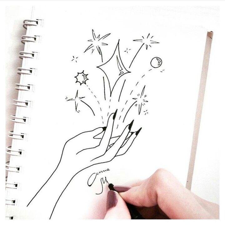 Tumblr drawing nails hand magic