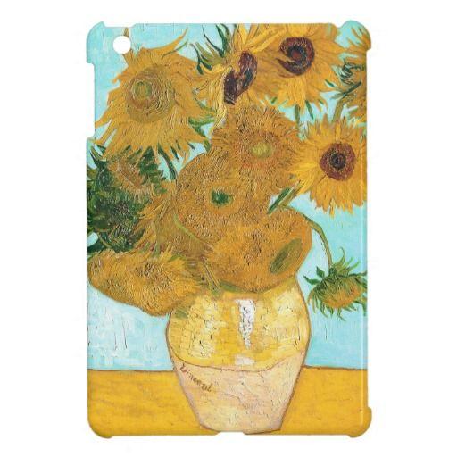 Still Life - Vase with Twelve Sunflowers van Gogh iPad Mini Cases